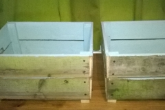 garden crates made from reclaimed fence palings