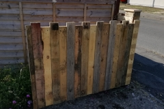 driveway gate made from reclaimed pallet wood
