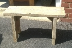small scaffold plank bench