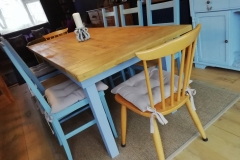8 person dining table made from spruce scaffolding boards