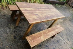 Scaffolding Board Table and Benches