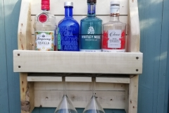 Wall mounted cocktail rack made from pallet wood