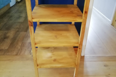custom made kitchen shelving unit from reclaimed wood