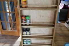 reclaimed oak spice rack