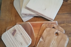 chopping boards and pizza platters