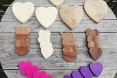 heart shaped cheese boards and coasters