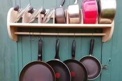 six hook saucepan rack with lid storage
