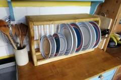 12 slot wall mounterd kitchen plate rack