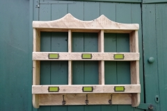pallet wood pigeon holes and coat hooks