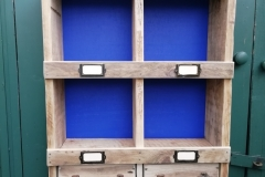 pallet wood pigeon holes with builtin drawers