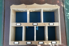 pigeon holes, an unusual configuration based on the clients requirements
