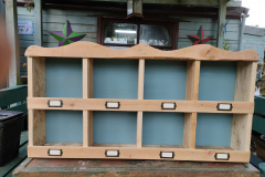 pigeon holes made from reclaimed pallet wood