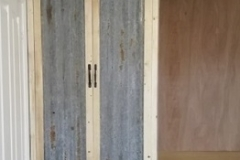 corrugated iron wardrobe doors