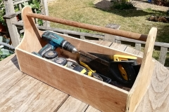 Long tool caddy from recalimed plywwood