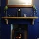 Solid Oak mantlepiece with corbels