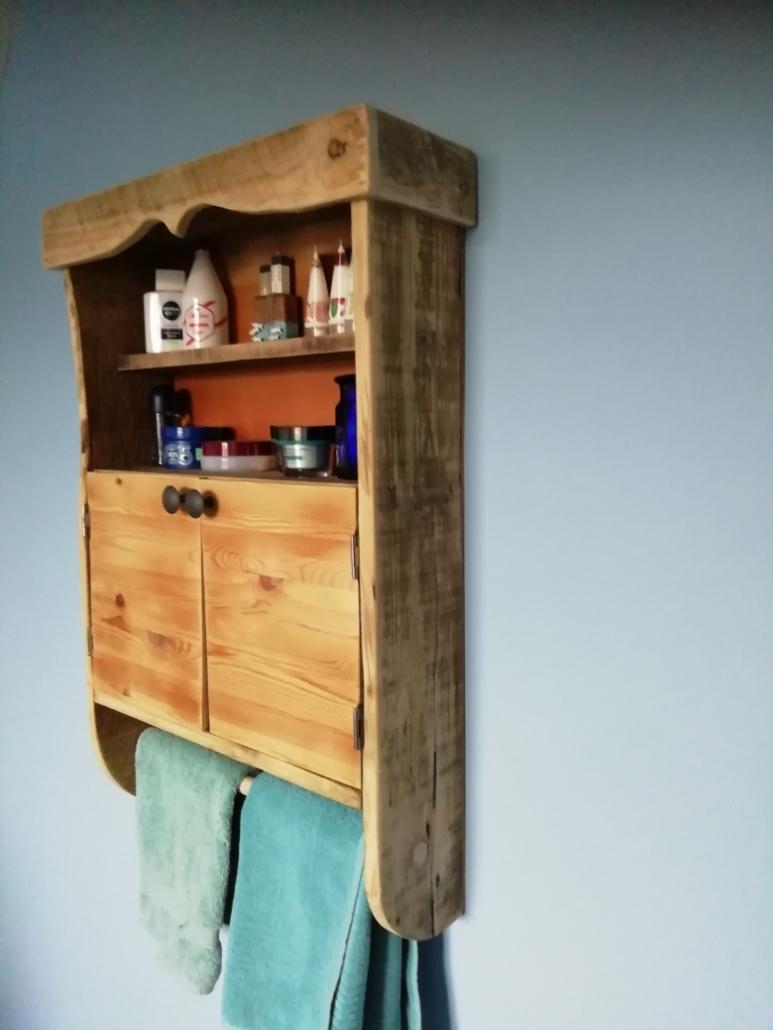 Rustic Bathroom Wall Cabinet Good With Wood Stroud